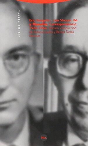 Fe Y Filosofia. Correspondencia 1934-1964