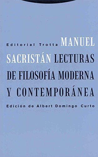 Lecturas De Filosofia Moderna Y Contemporanea