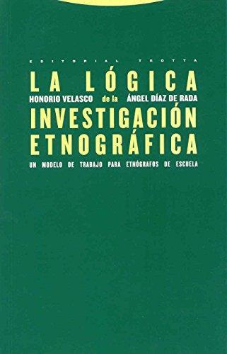 Logica De La Investigacion Etnografica. Un Modelo De Trabajo Para Etnografos De Escuela, La
