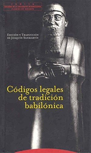 Codigos Legales De La Tradicion Babilonica