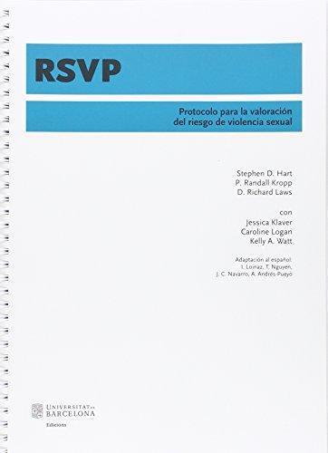 Rsvp Protocolo Para La Valoracion Del Riesgo De Violencia Sexual