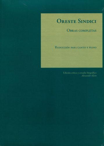 Oreste Sindici Obras Completas Reduccion Para Canto Y Piano