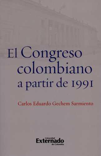 Congreso Colombiano A Partir De 1991, El