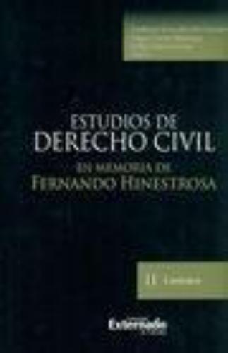 Estudios De Derecho Civil Ii En Memoria De Fernando Hinestrosa