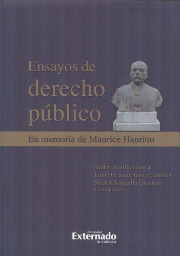 Ensayos De Derecho Publico. En Memoria De Maurice Hauriou