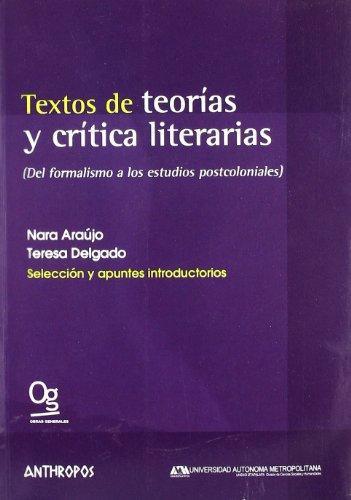 Textos De Teorias Y Critica Literarias