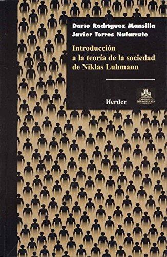 Introduccion A La Teoria De La Sociedad De Niklas Luhmann