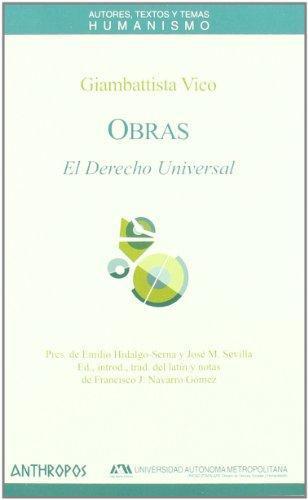 Obras G. Vico El Derecho Universal