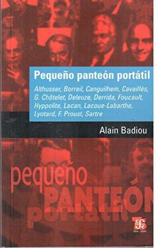 Pequeño panteón portátil: Althusser, Borreil, Canguilhem, Cavaillè, G. Châtelet, Deleuze, Derri