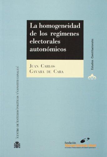 Homogeneidad De Los Regimenes Electorales Autonomicos, La