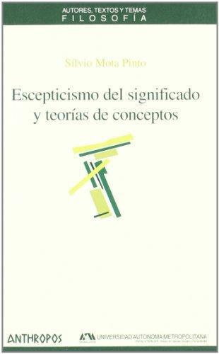 Escepticismo Del Significado Y Teorias De Conceptos