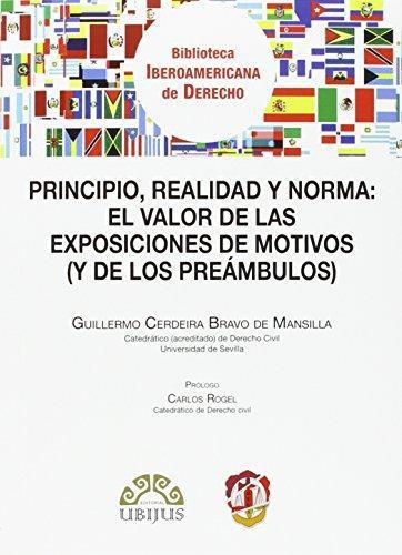 Principio Realidad Y Norma El Valor De Las Exposiciones De Motivos Y De Los Preambulos