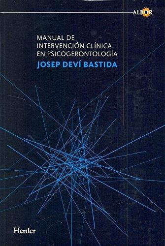 Manual De Intervencion Clinica En Psicogerontologia