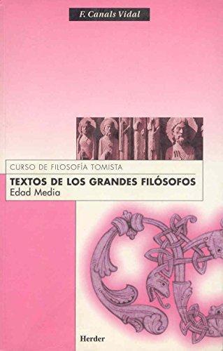 Textos De Los Grandes Filosofos. Edad Media