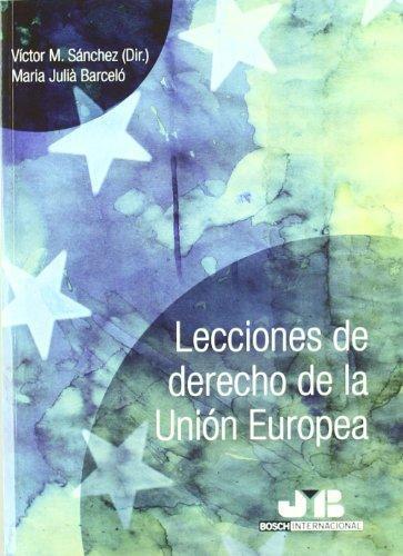 Lecciones De Derecho De La Union Europea