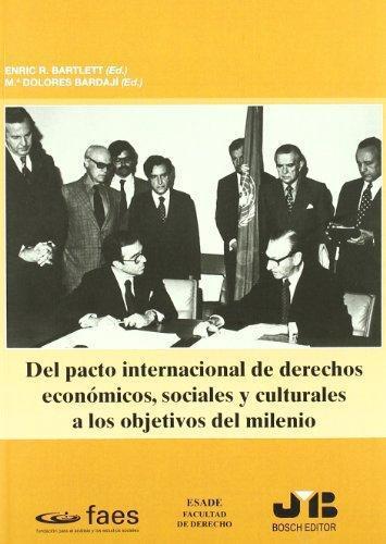 Del Pacto Internacional De Derechos Economicos, Sociales Y Culturales A Los Objetivos Del Milenio
