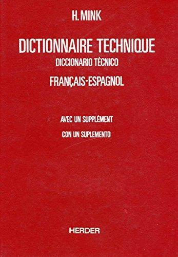 Diccionario Tecnico (Volumen I) Frances - Español