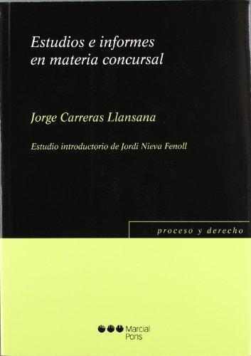 Estudios E Informes En Materia Concursal