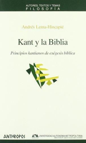 Kant Y La Biblia