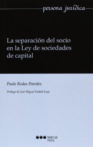 Separacion Del Socio En La Ley De Sociedades De Capital, La