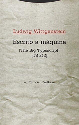 Escrito A Maquina. The Big Typescript Ts 213