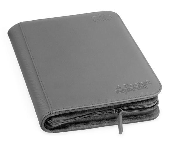 Portfolio: Ultimate Guard 4-Pocket Zipfolio Xenoskin Grey
