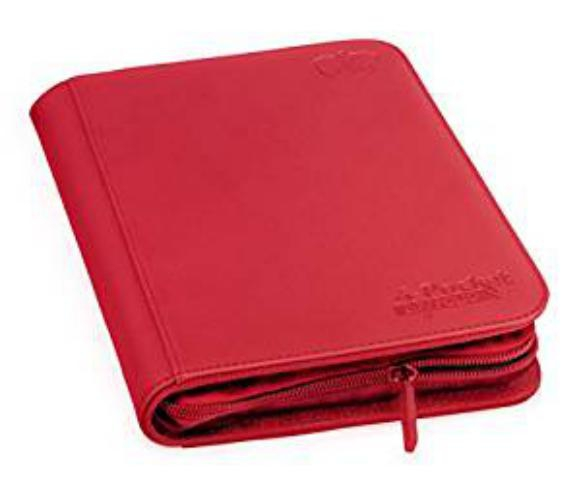 Portfolio: Ultimate Guard 4-Pocket Zipfolio Xenoskin Red