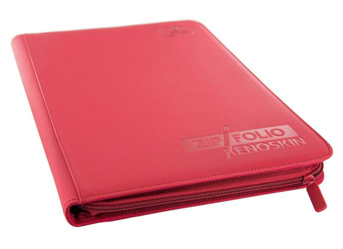 Portfolio: Ultimate Guard 9-Pocket Zipfolio Xenoskin Red
