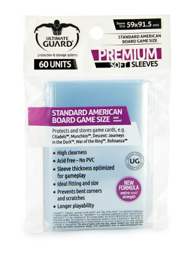 Sleeve Deck: Ultimate Guard Premium Sleeves For Board Game Cards Standard American