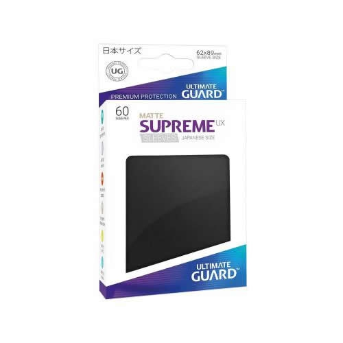 Sleeve Deck: Ultimate Guard Supreme Ux Sleeves Japanese Size Matte Black