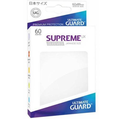 Sleeve Deck: Ultimate Guard Supreme Ux Sleeves Japanese Size White