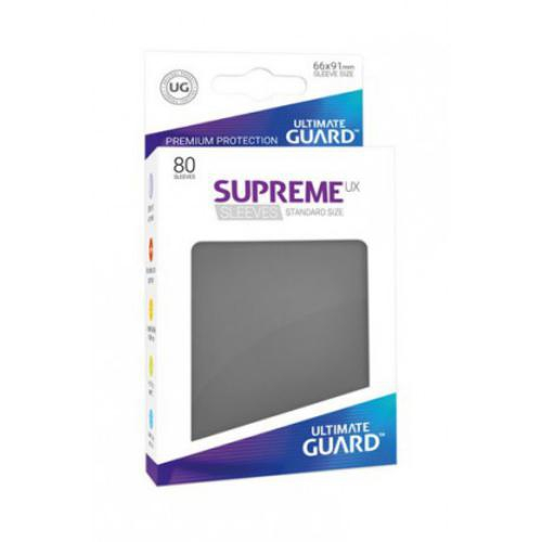 Sleeve Deck: Ultimate Guard Supreme Ux Sleeves Standard Size Dark Grey