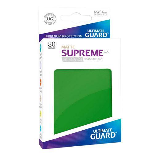 Sleeve Deck: Ultimate Guard Supreme Ux Sleeves Standard Size Green