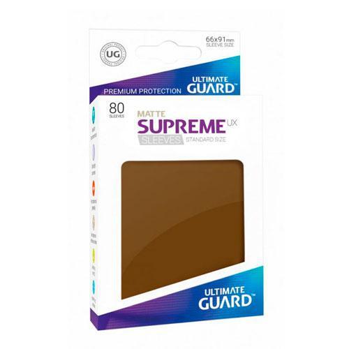 Sleeve Deck: Ultimate Guard Supreme Ux Sleeves Standard Size Matte Brown