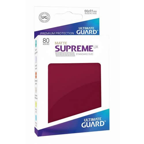 Sleeve Deck: Ultimate Guard Supreme Ux Sleeves Standard Size Matte Burgundy