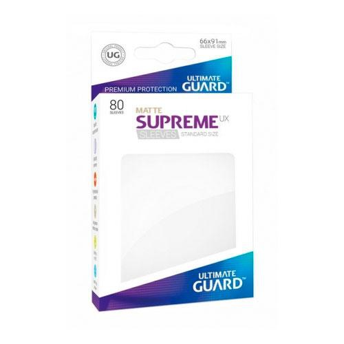 Sleeve Deck: Ultimate Guard Supreme Ux Sleeves Standard Size Matte White