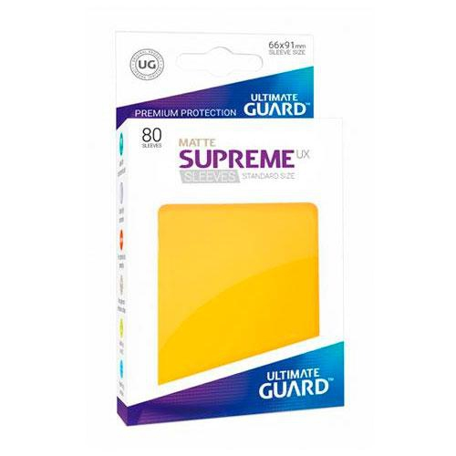 Sleeve Deck: Ultimate Guard Supreme Ux Sleeves Standard Size Matte Yellow