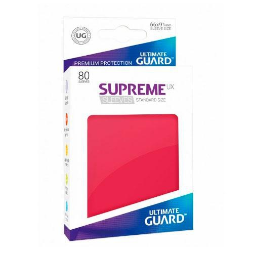 Sleeve Deck: Ultimate Guard Supreme Ux Sleeves Standard Size Red
