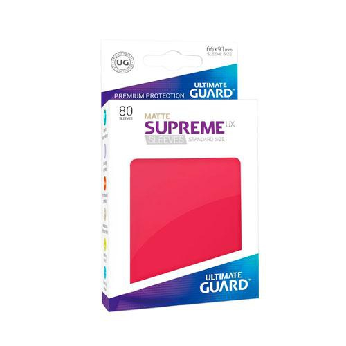 Sleeve Deck: Ultimate Guard Supreme Ux Sleeves Standard Sizematte Red