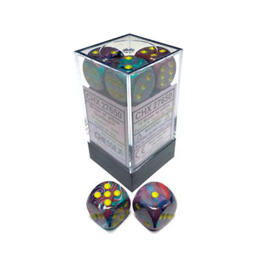 Dice Block - Festive Mosaic / Yellow 12-Dice Set