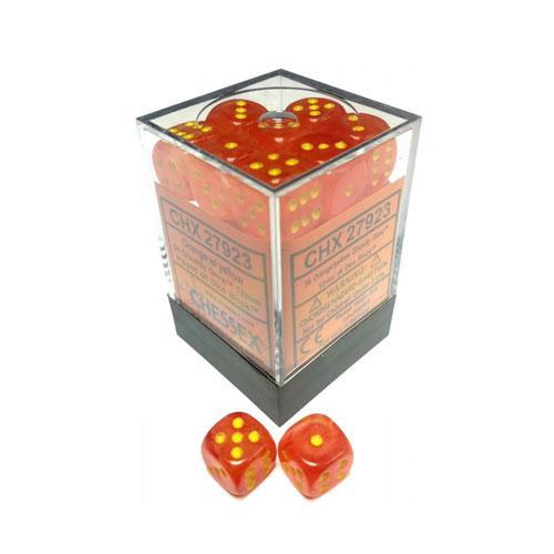 Dice Block - Ghostly Glow Orange/Yellow 12-Dice Set