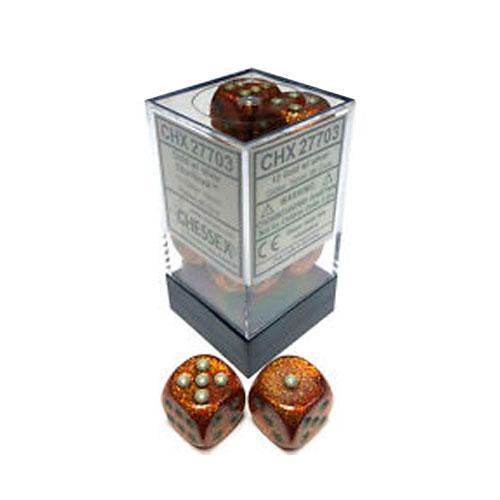 Dice Block - Glitter Gold/Silver 12-Dice Set