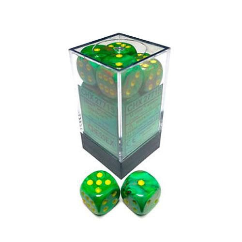 Dice Block - Vortex Slime / Yellow 12-Dice Set