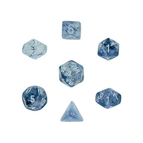 Nebula Polyhedral Black/White 7-Dice Set