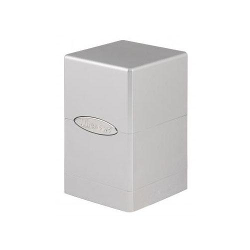 Deck Box: Metallic Silver Satin Tower