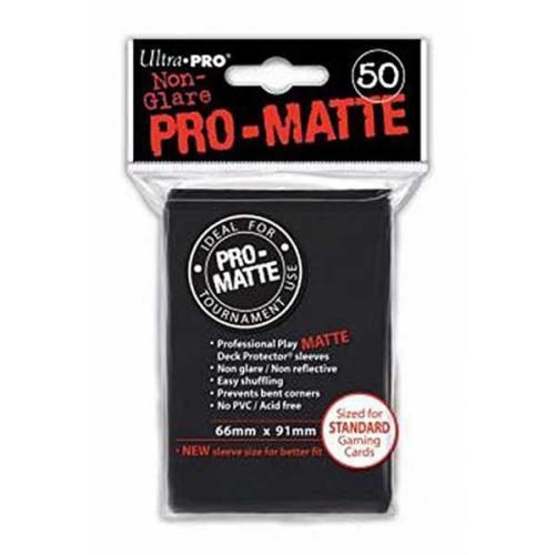 Sleeve Deck: Pro-Matte Standard Sleeves, Black