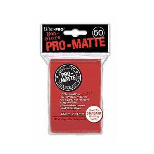 Sleeve Deck: Pro-Matte Standard Sleeves, Red