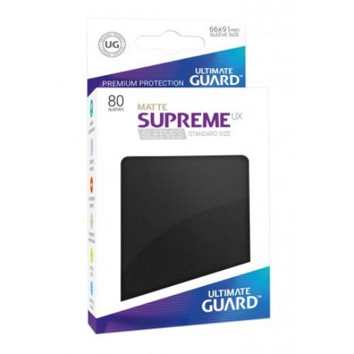 Sleeve Deck: Ultimate Guard Supreme Ux Sleeves Standard Size Matte Black