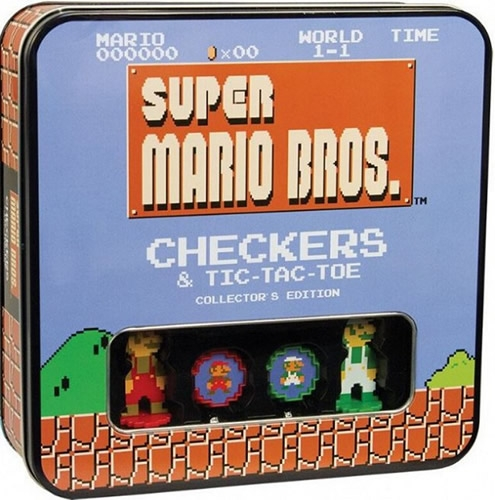 Super Mario Bros Checkers Y Tic Tac Toe Collector'S Tin