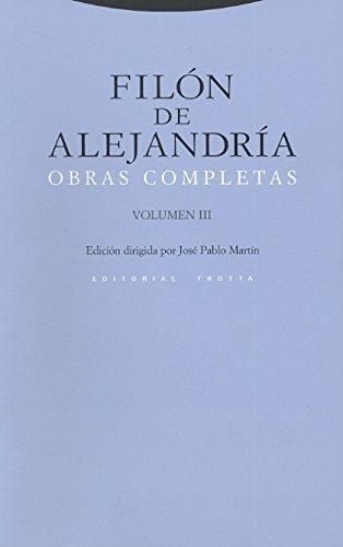 Filon De Alejandria Vol.Iii Obras Completas